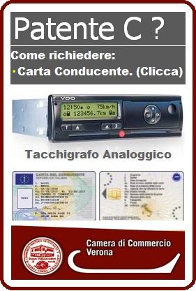 carta del conducente per autista Camion con tachigrafo digitale